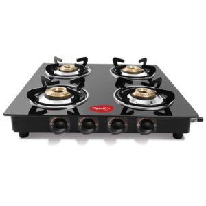 Pigeon by Stovekraft Aster 4 High Powered Brass Burner Gas Stove, Cooktop with Glass Top and Stainless Steel body, Manual Ignition16